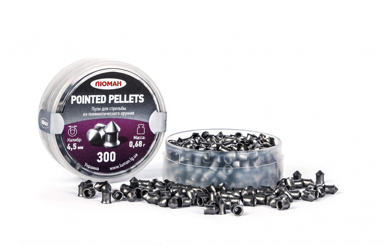 Пули Люман Pointed pellets, 0,68 (300 шт) острые