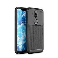 Чехол Carbon Case Nokia 7.1 Plus / X7 / 8.1 Черный