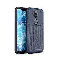 Чехол Carbon Case Nokia 7.1 Plus / X7 / 8.1 Синий