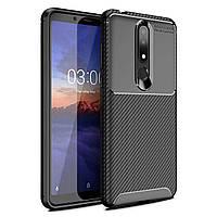Чехол Carbon Case Nokia X3 / Nokia 3.1 Plus Черный