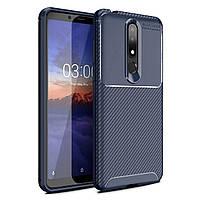 Чехол Carbon Case Nokia X3 / Nokia 3.1 Plus Синий