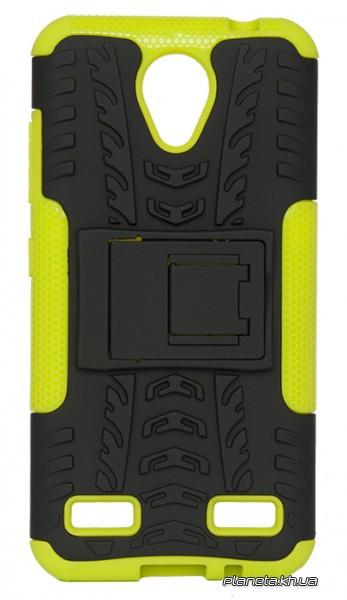 Florence Dazzle Сombo PC + TPU накладка с подставкой для  ZTE Blade A520 Green ( силикон и пластик )