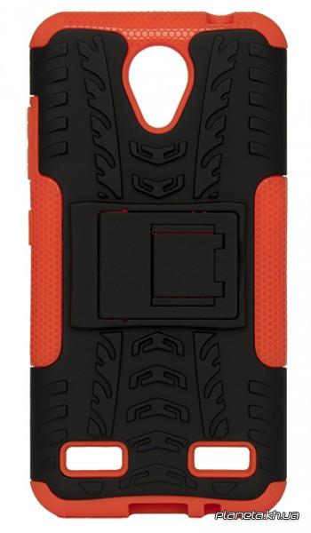 Florence Dazzle Сombo PC + TPU накладка с подставкой для ZTE Blade A520 Orange ( силикон и пластик )