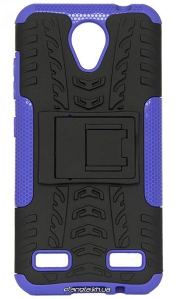 Florence Dazzle Сombo PC + TPU накладка с подставкой для ZTE Blade A520 Purple ( силикон и пластик )