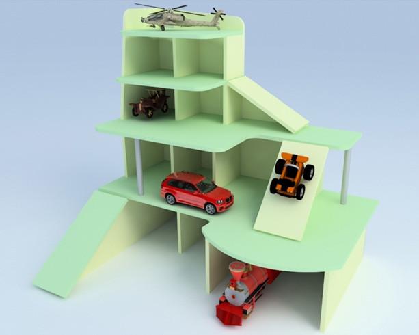 Детская игровая стенка Автосалон. W416