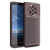 Чехол Carbon Case Nokia 9 Pureview Коричневый