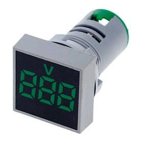 Цифровой вольтметр AC 20-500V зеленый AD101-22VMS панельный