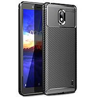 Чехол Carbon Case Nokia 1 Plus Черный