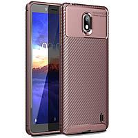 Чехол Carbon Case Nokia 1 Plus Коричневый