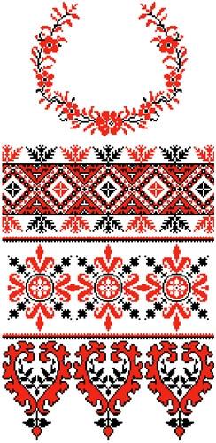 Заготовки для вышивки с нанесенным рисунком-схемой
