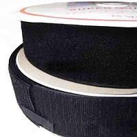 Липучка текстильная 25мм. Черный (25м)