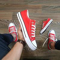 Конверсы Мужские и женские КРАСНЫЕ кроссовки кеды конверсы AIL STAR в стиле Converse all star