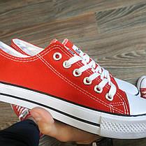 38, 38 размеры женские КРАСНЫЕ кроссовки кеды конверсы AIL STAR в стиле Converse all star, фото 3