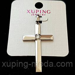 Кулон крест xuping  42х24 позолота 18к