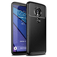 Чехол Carbon Case Motorola G6 Play / E5 Черный