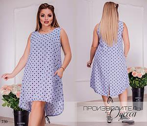 Платье летнее короткое принт шёлк-софт 50,52,54,56,58,60