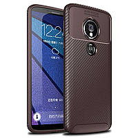Чехол Carbon Case Motorola G6 Play / E5 Коричневый