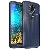 Чехол Carbon Case Motorola E5 Plus Синий