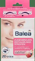 Balea Enthaarungsstreifen Augenbrauen - Восковые полоски для коррекции бровей, 20 шт.