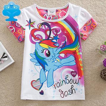 Детская яркая футболка для девочки