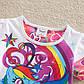 Детская яркая футболка для девочки, фото 2