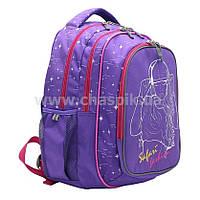 Рюкзак Safari Basic 40 х 29 х 17 см 3 отделения , водозащитная  ткань , цвет  бузковий 19-117M-2