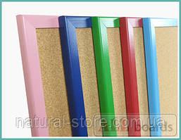 """Пробковая доска 90х60см в розовой деревянной раме TM """"ALL boards"""""""