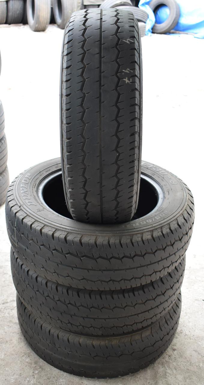 Шины б/у 205/65 R16С Dunlop, ЛЕТО, комплект, 5 мм