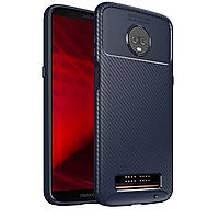Чехол Carbon Case Motorola Z3 Play Синий
