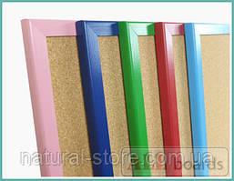 """Пробковая доска 90х60см в голубой деревянной раме TM """"ALL boards"""""""