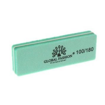 Баф для шлифовки ногтей 100/180, цвет в ассортименте