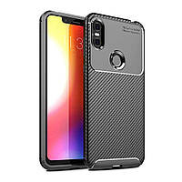 Чехол Carbon Case Motorola P30 Play Черный