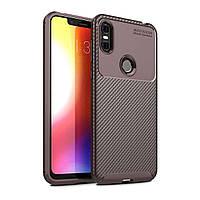 Чехол Carbon Case Motorola P30 Play Коричневый