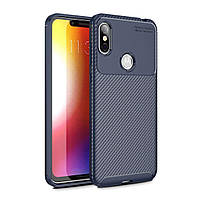 Чехол Carbon Case Motorola P30 Note Синий