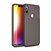 Чехол Carbon Case Motorola P30 Note Коричневый