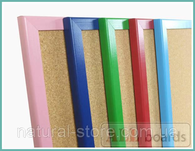 """Пробковая доска 120х90см в красной деревянной раме TM """"ALL boards"""""""