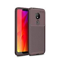 Чехол Carbon Case Motorola G7 Power Коричневый