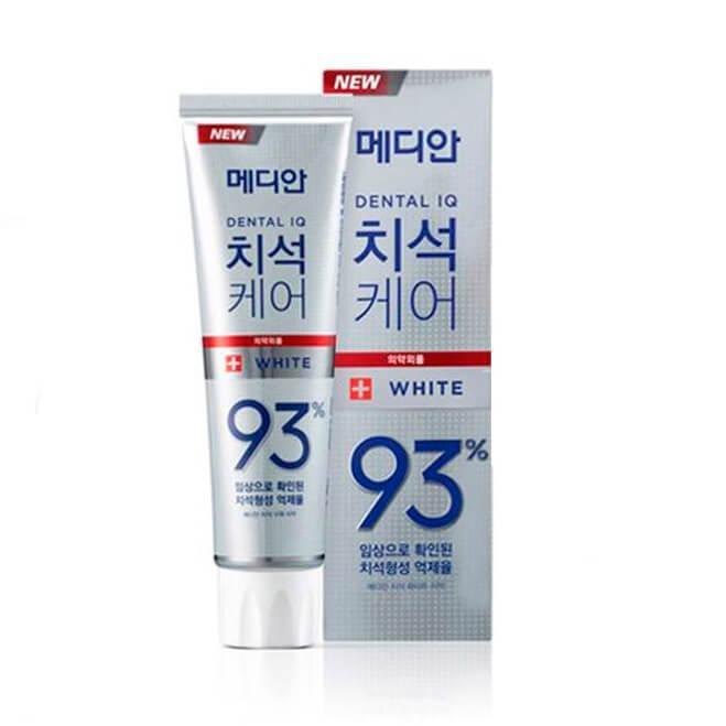 Зубная паста отбеливающая со вкусом Мяты и Лимона Median Dental IQ 93% White Toothpaste, 120ml