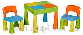 Комплект дитячих меблів Tega Baby Mamut стіл і 2 стільці Multicolor