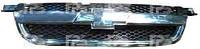 Решетка Chevrolet Aveo / Vida T250 без накладки капота хромированная черная (FPS)