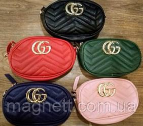 Модна сумка-ремінь на пояс або через плече Gucci (Різні кольори)