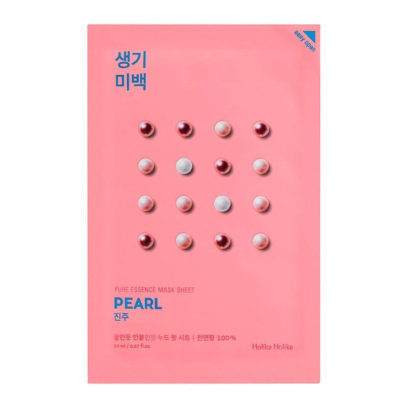 Отбеливающая маска для лица с экстрактом жемчуга Holika Holika Pure Essence Mask Sheet Pearl