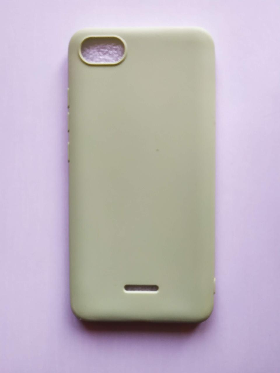 Силиконовый чехол Xiaomi Redmi 6a зеленый матовый