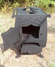 """Печь для дачи длительного горения """"Узорная"""" 4 мм с вентилятором, фото 2"""