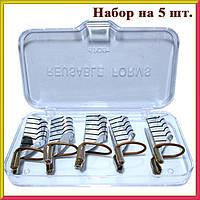 Формы Серебро Многоразовые для Наращивания Ногтей, Набор из 5 форм Упаковкой 10 наборов.