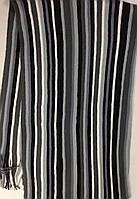 Мужской турецкий шарф с бахромой  в полоску