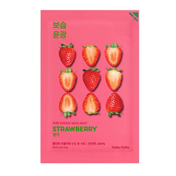 Увлажняющая маска для лица с экстрактом клубники Holika Holika Pure Essence Mask Sheet Strawberry