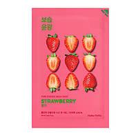 Увлажняющая маска для лица с экстрактом клубники Holika Holika Pure Essence Mask Sheet Strawberry, фото 1