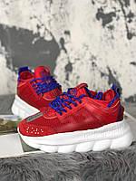 Женские кроссовки Versace Chain Reaction (Red/White), женские кроссовки Версачи, кроссовки версач, фото 1