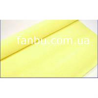 Креп бумага бледно желтая №574